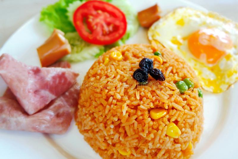 A Colorful Fried Rice Dish royalty free stock photography