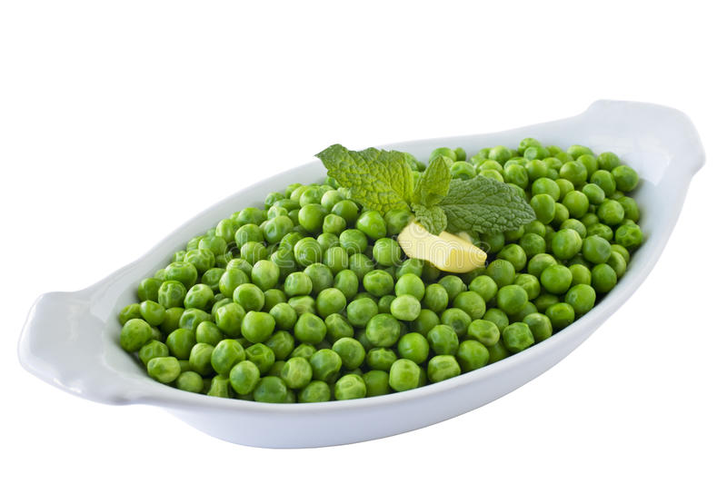 Dish of Cooked Peas royalty free stock photo