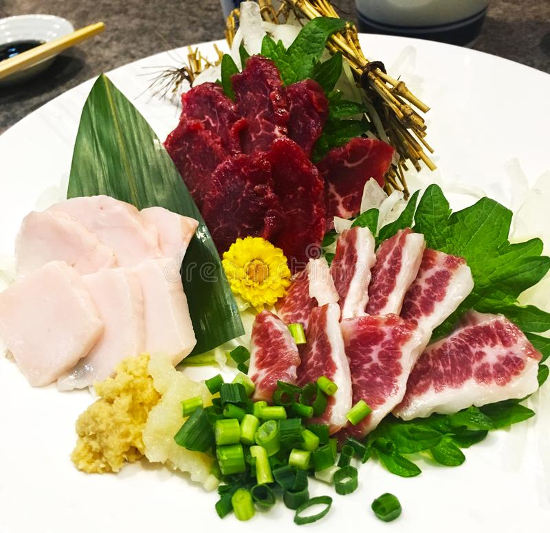 Raw Horse Meat Dish stock photography