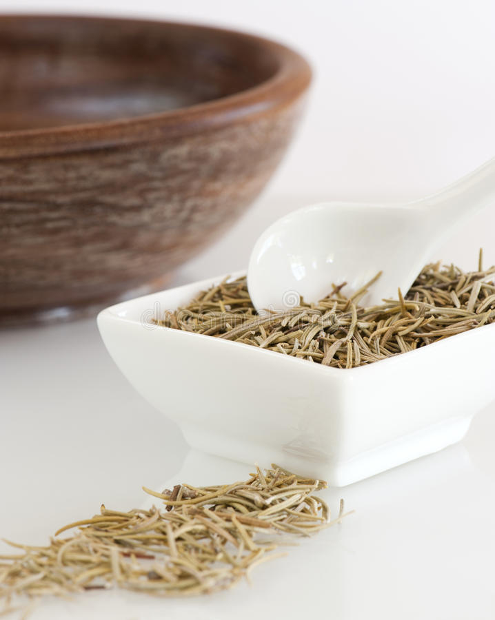 Dish of Dried Rosemary royalty free stock images