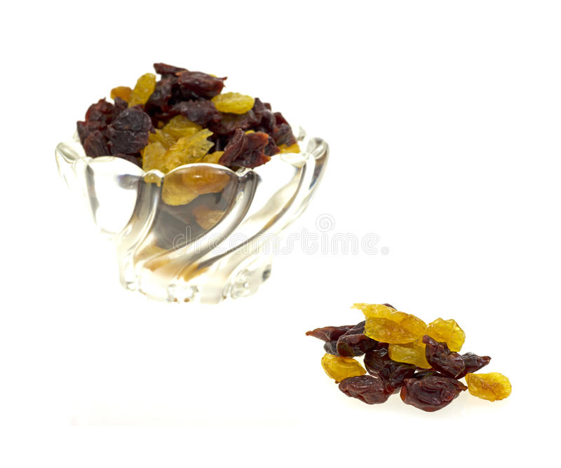 Download Dish Of Dried Sweet Cherries Stock Photo - Image of dish, glass: 24253538