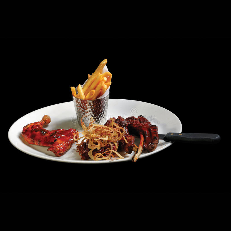 A dish of European finest food royalty free stock image