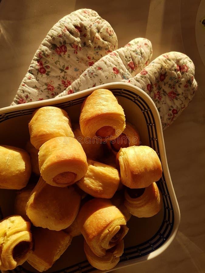 Homemade pasty rolls royalty free stock photo