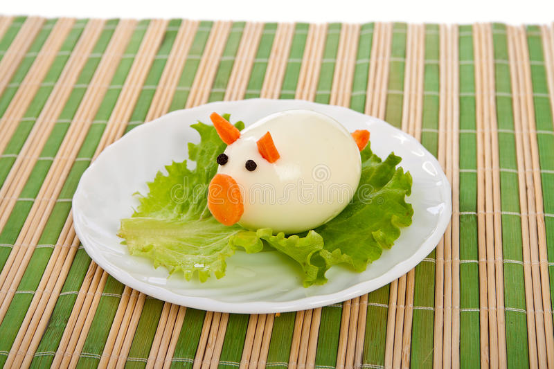 Download Dish from lettuce and egg. stock image. Image of carving - 23439617
