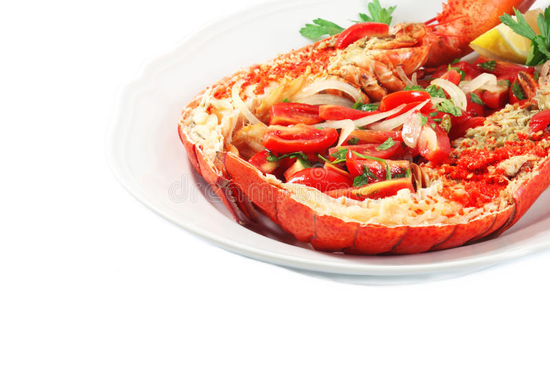 Download Dish with lobster stock image. Image of restaurant, lemon - 26841201
