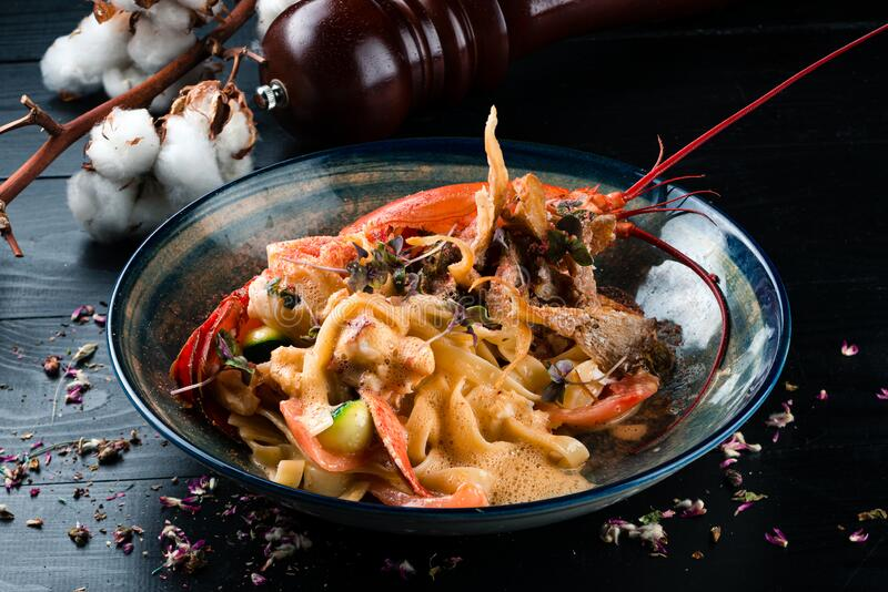 A dish of lobster stock photo