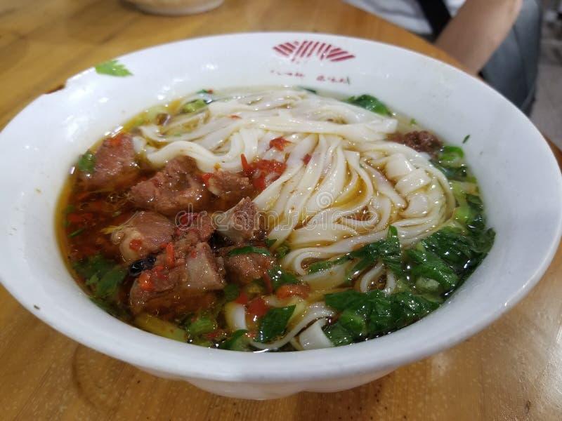 Dish Noodle Picante imagem de stock royalty free