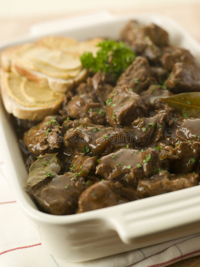 Free Dish Of Beef Carbonnade With Mustard Crouton Royalty Free Stock Photos - 5622148