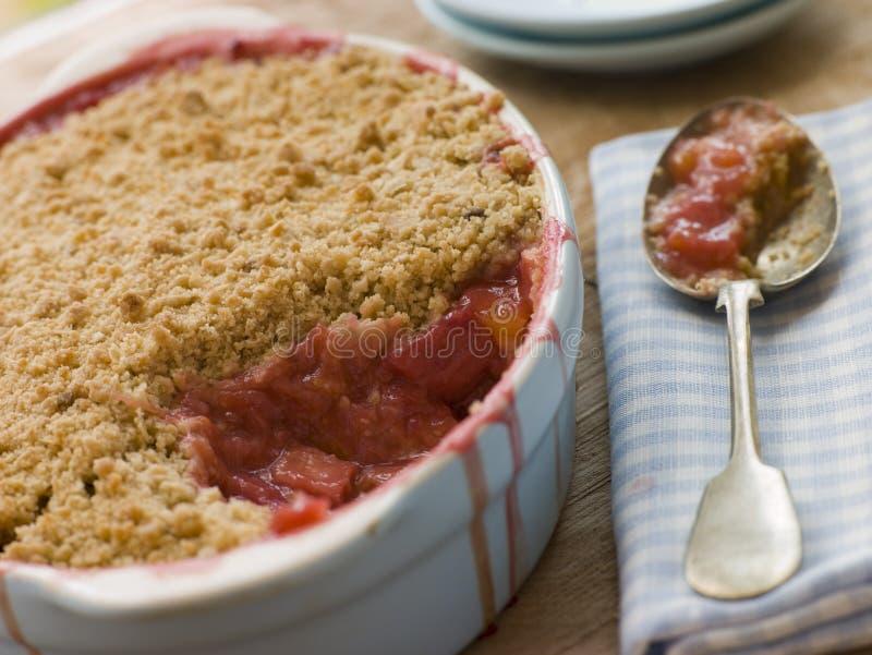 Download Dish Of Rhubarb And Blood Orange Crumble Stock Image - Image: 5931961