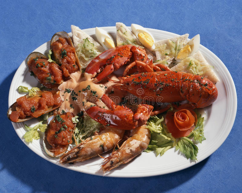 Download Dish with seafoods stock image. Image of salad, delicious - 9689853