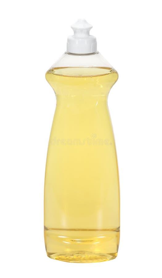 Dish Soap. Bottle of lemon dish soap isolated on white stock photo