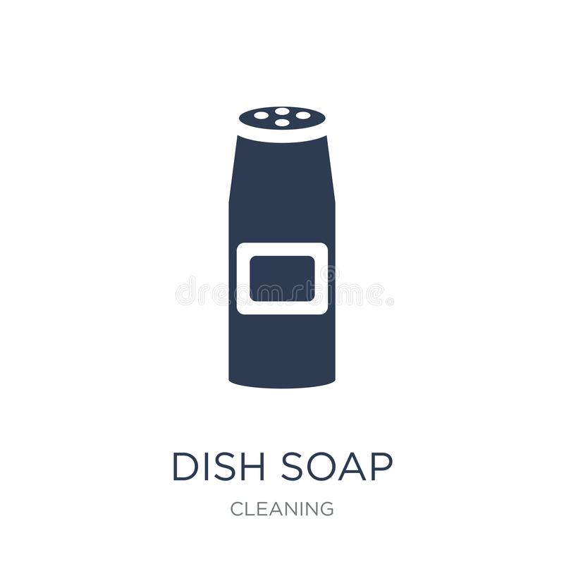 Dish soap icon. Trendy flat vector Dish soap icon on white background from Cleaning collection vector illustration