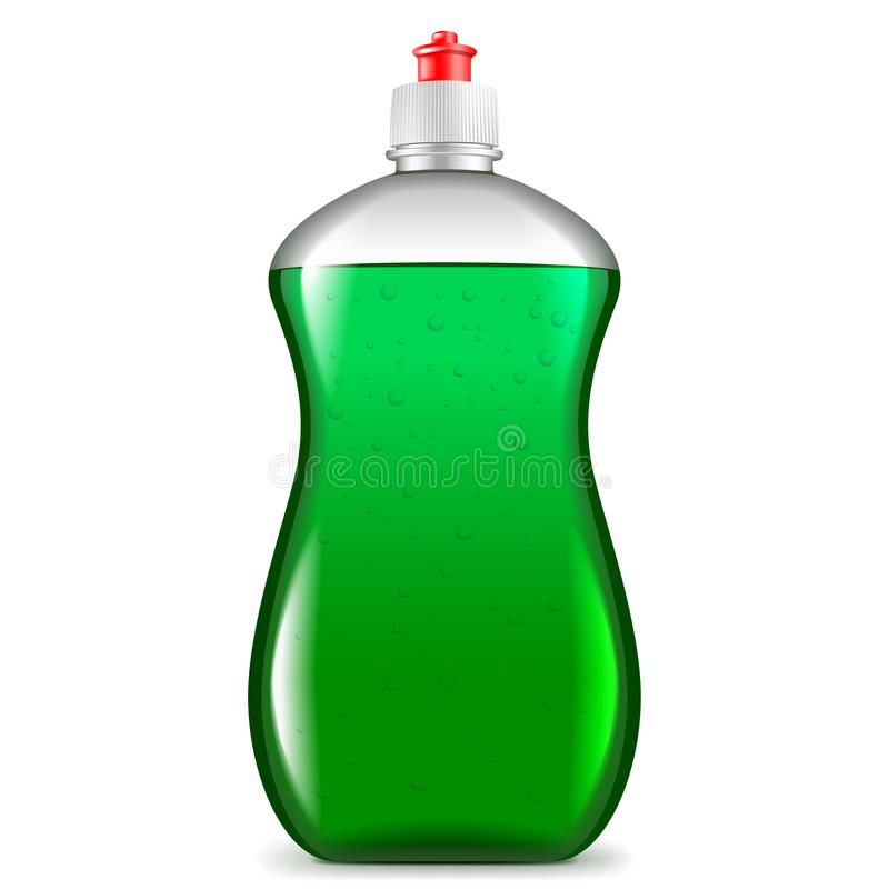 Free Dish Soap Isolated On White Vector Illustration Stock Image - 141562211