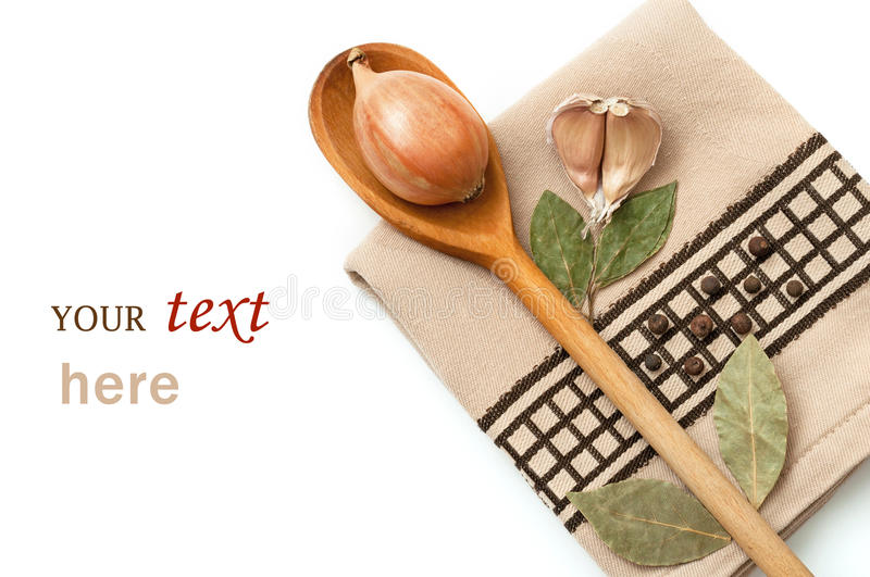 Download Dish towel and spices stock image. Image of food, dried - 24580391