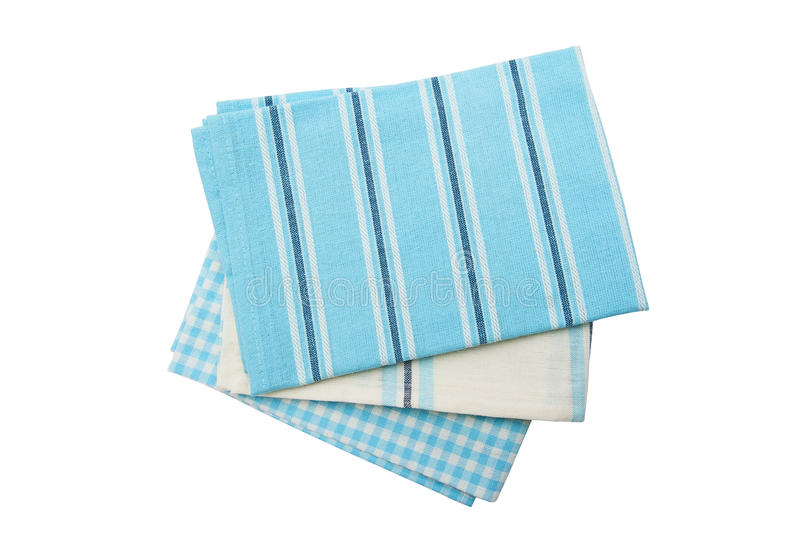 Dish towels. Isolated on the white background stock photography