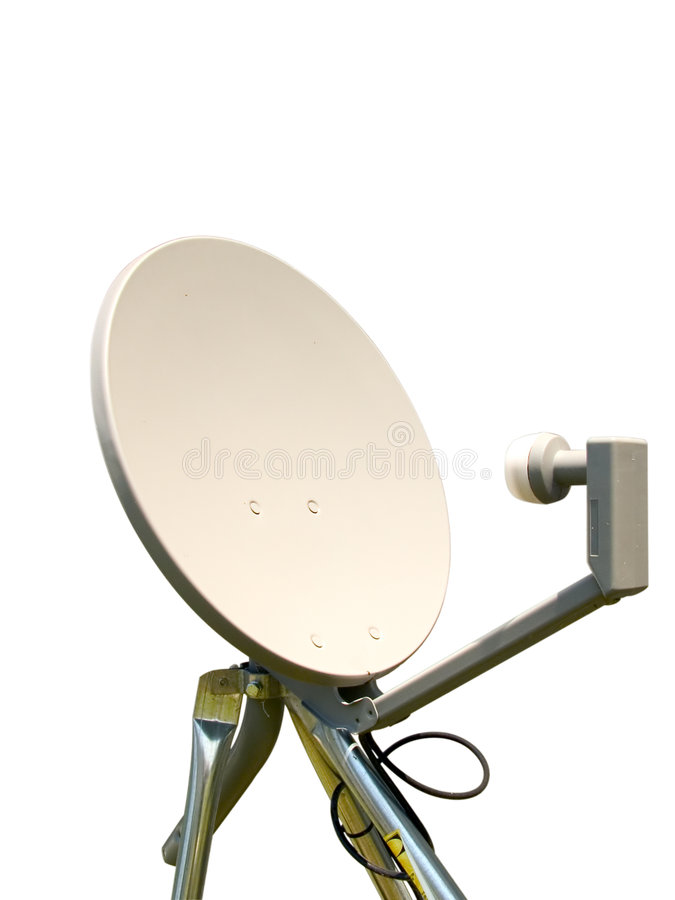Dish on tripod stock photos