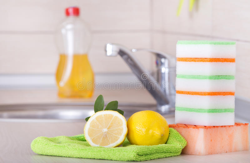 Dish washing concept royalty free stock photo