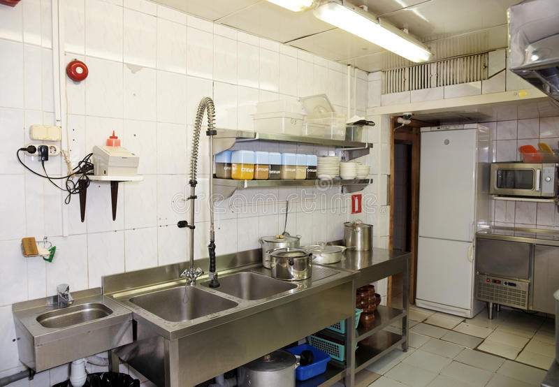 Dish Washing Room In A Restaurant Stock Image Image Of