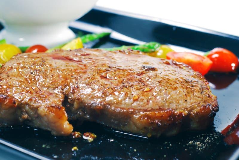 dishes горячее ribai мяса стоковое изображение