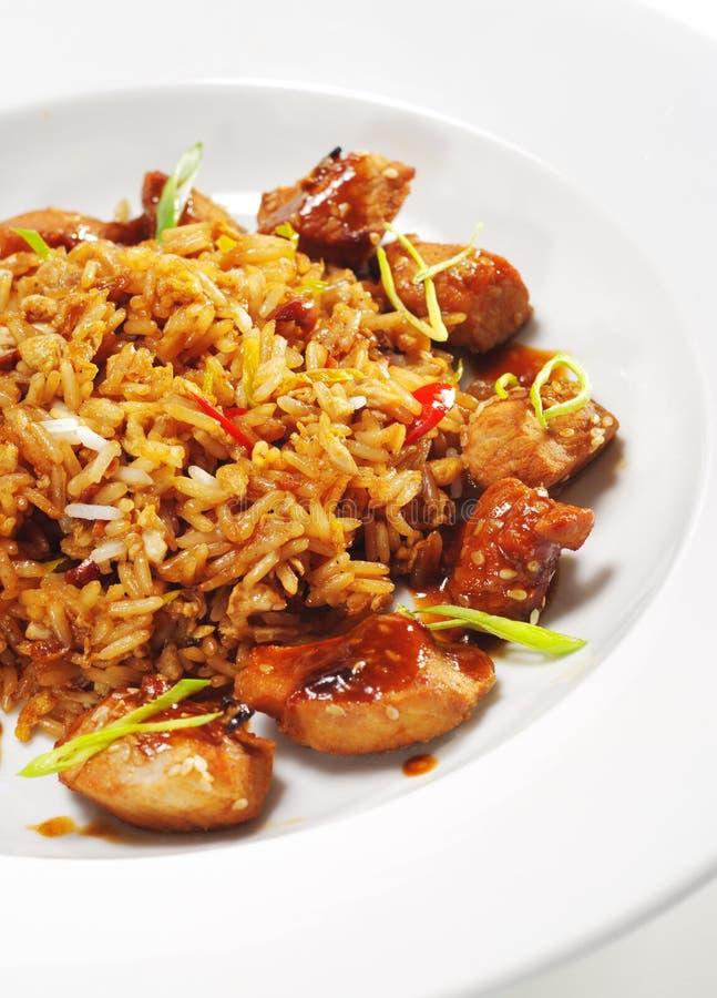 dishes рис свинины тайский стоковое фото rf