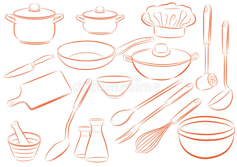 Download Dishes stock vector. Image of clip, cover, interest, lunch - 11258896