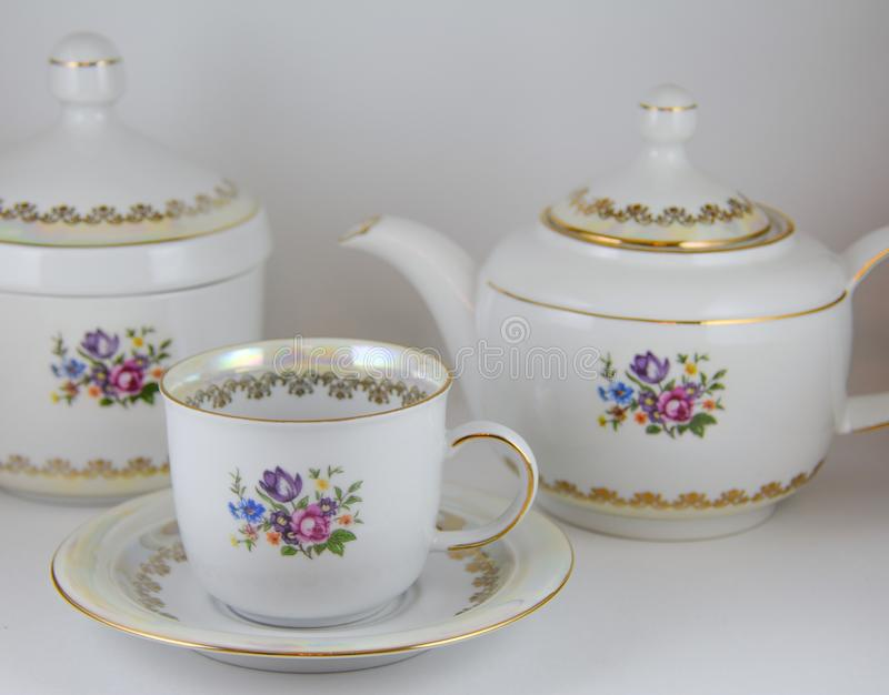 Dishes. Tea set royalty free stock images