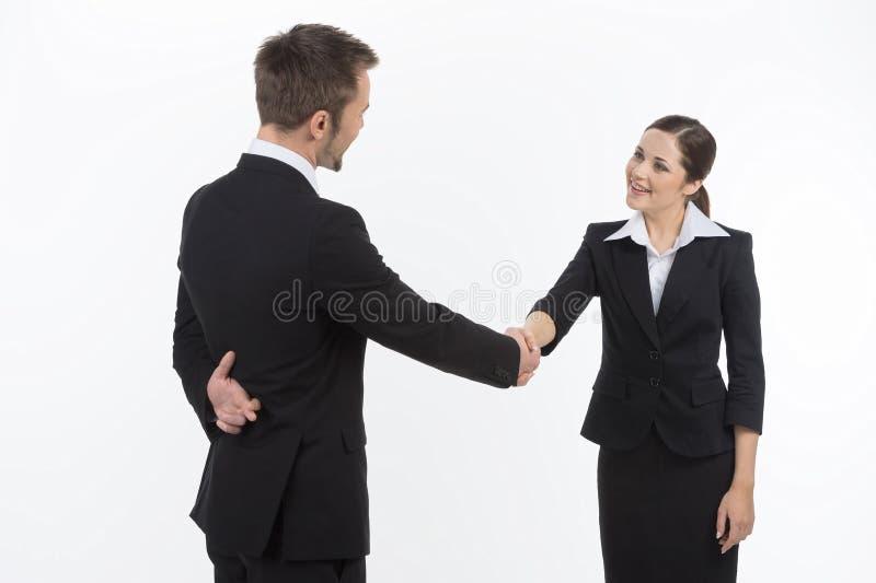 Dishonest Business Partner. Royalty Free Stock Photography