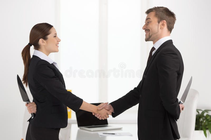 Download Dishonest partnership. stock photo. Image of concepts - 33030792