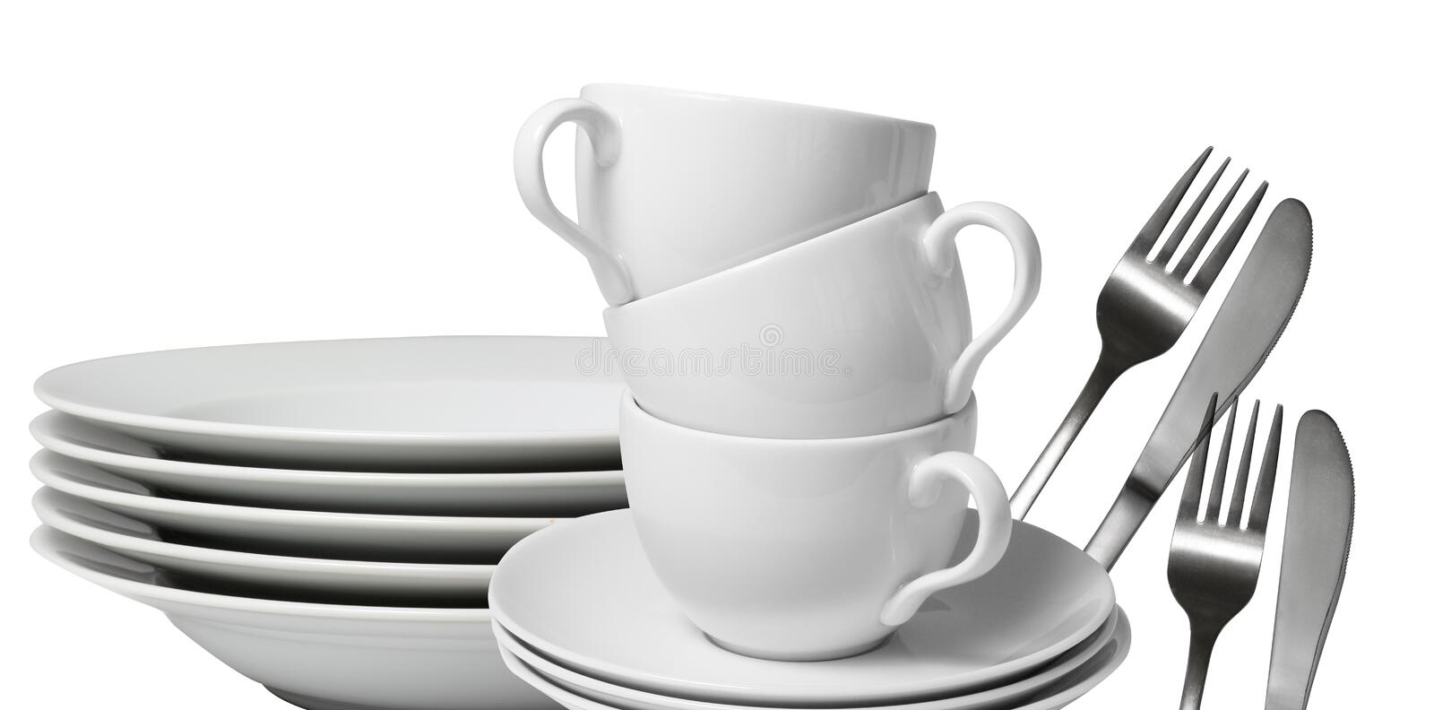 Dishware fotografie stock