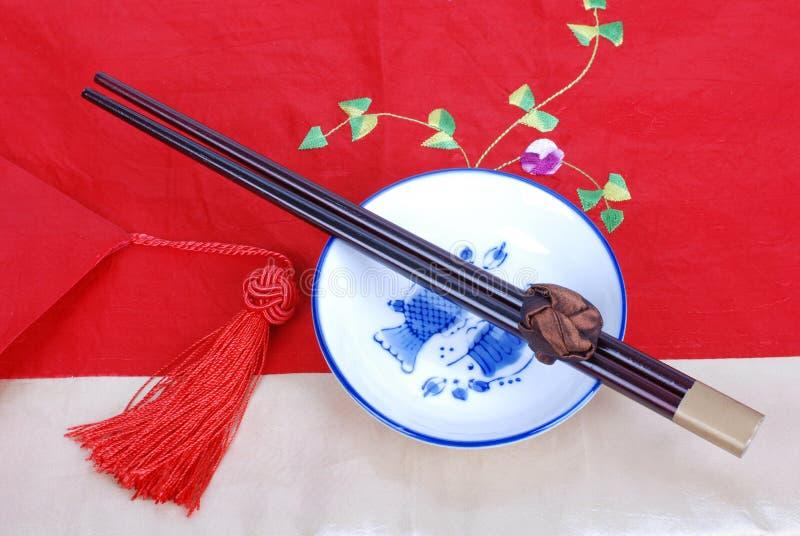 Dishware chinois photo libre de droits