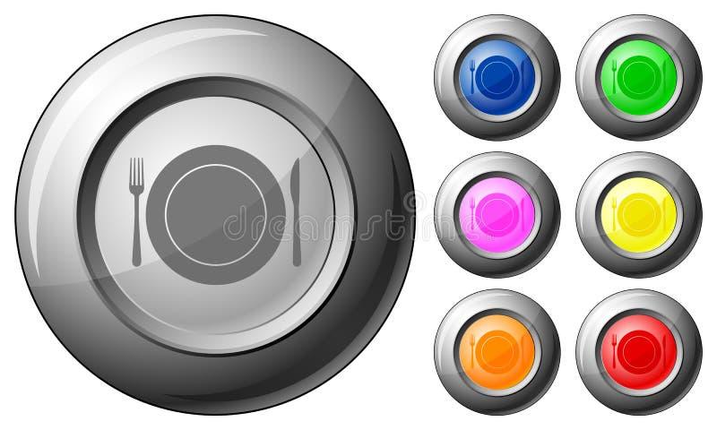 Dishware da tecla da esfera ilustração do vetor