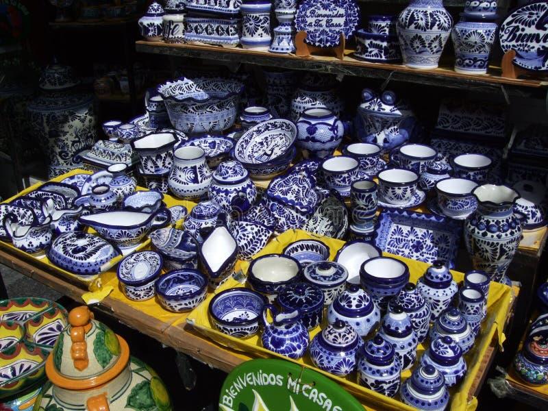 Dishware de Puebla image libre de droits