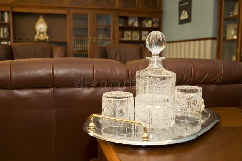 Dishware en cristal photos libres de droits