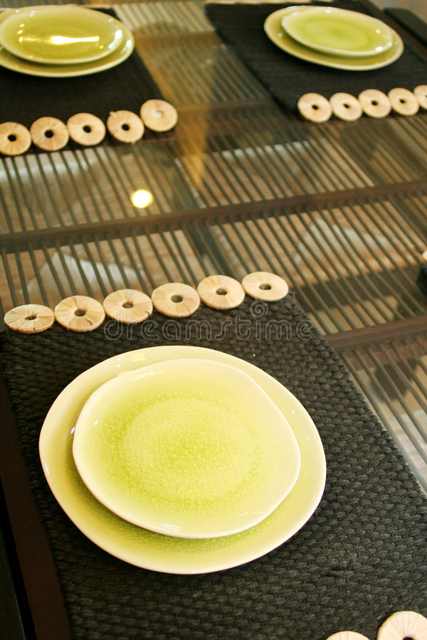 Dishware oriental de type photos stock