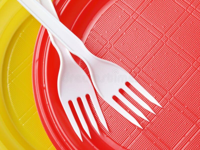 dishware rozporządzalny fotografia stock
