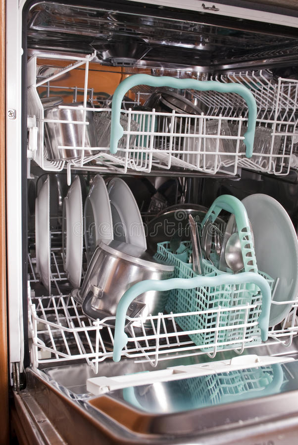 Download Dishwasher stock photo. Image of stainless, indoor, cleaned - 17006876