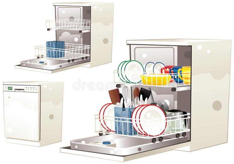 dishwasher ilustração stock
