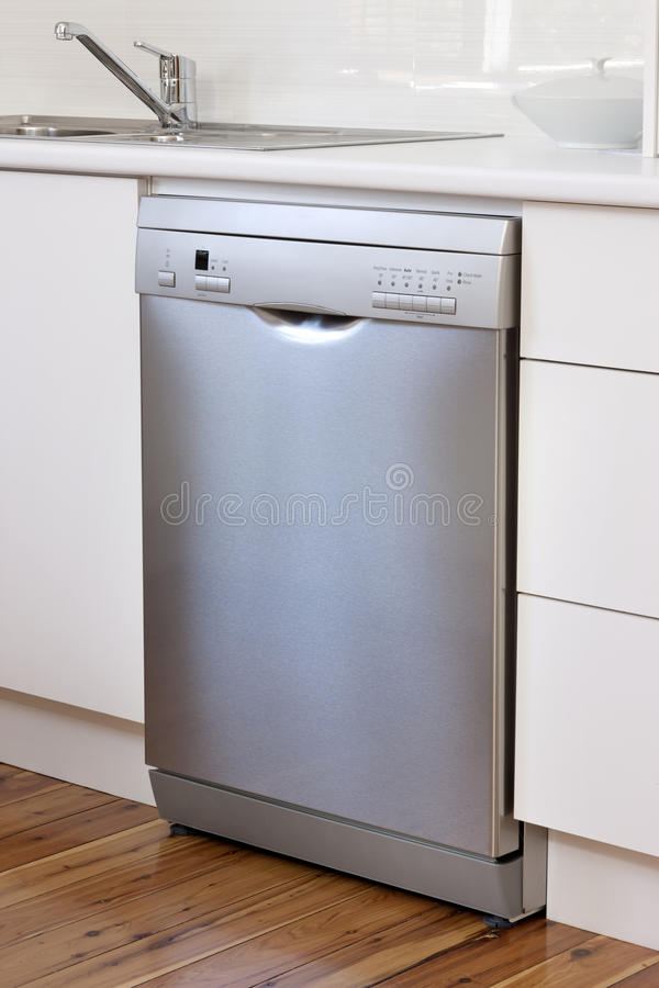 Stainless Steel Dishwasher Appliance Kitchen stock photos