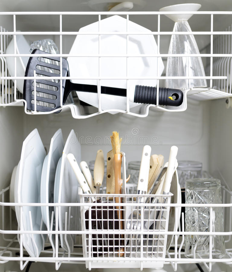 Download Dishwasher And Dirty Dishes Stock Photo - Image of washer, dirty: 22494810