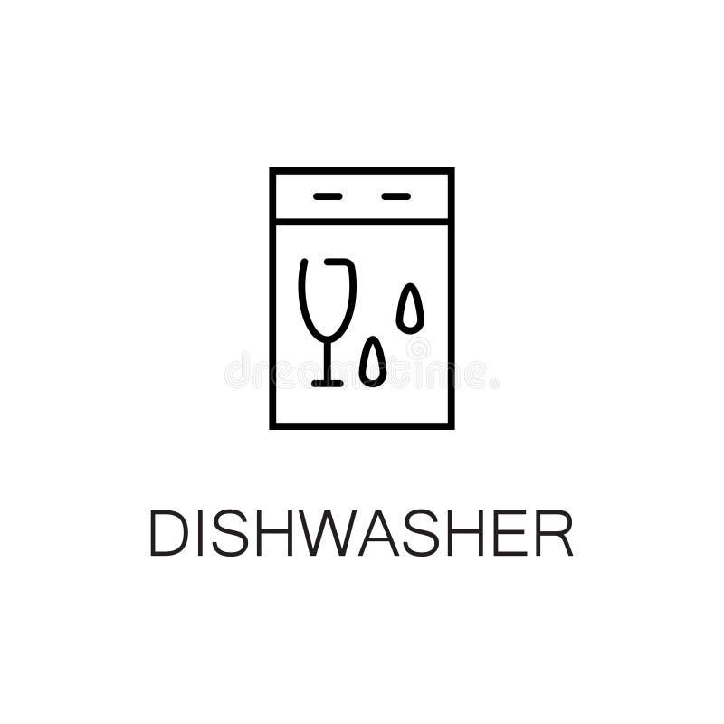 Free Online Kitchen Design App: Dishwasher Flat Icon Or Logo For Web Design. Stock Vector