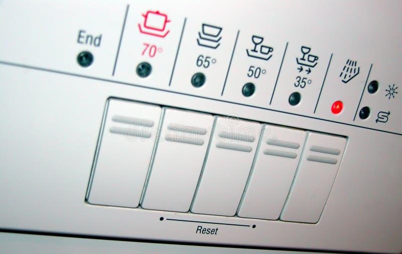 Dishwasher panel royalty free stock photos