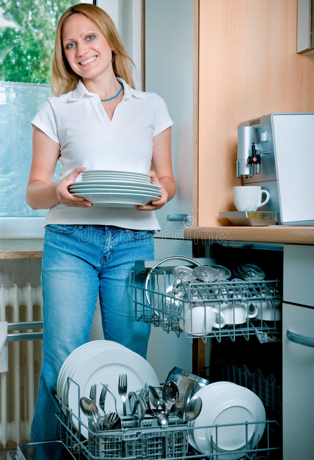 Download Dishwashing stock photo. Image of adult, housecleaning - 15436874