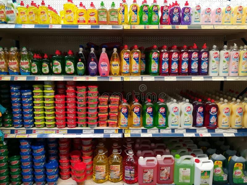 Dishwashing detergentia royalty-vrije stock afbeeldingen