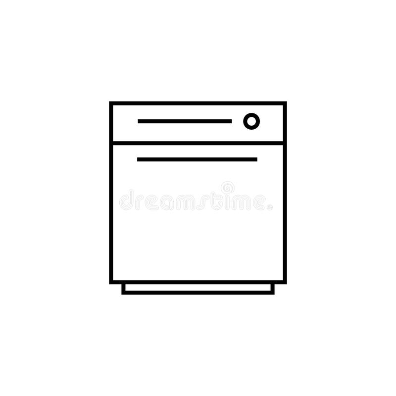 dishwashing machine icon. Element for mobile concept and web apps. Thin line icon for website design and development, app develop vector illustration