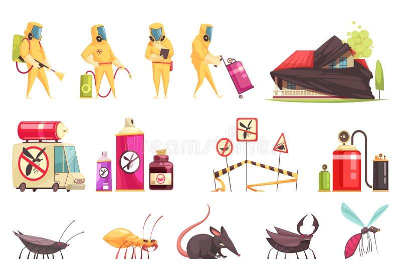Disinfection Pest Control Set royalty free illustration