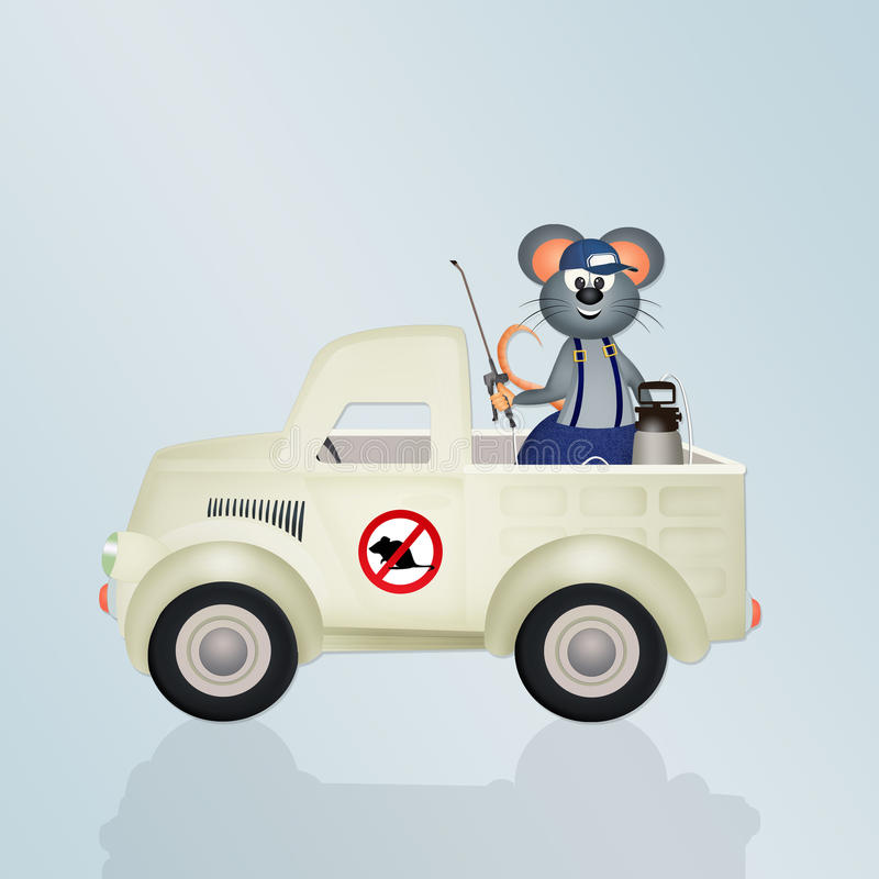 Disinfestation mice vector illustration