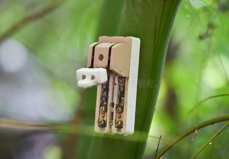 Disjoncteur électrique photo libre de droits
