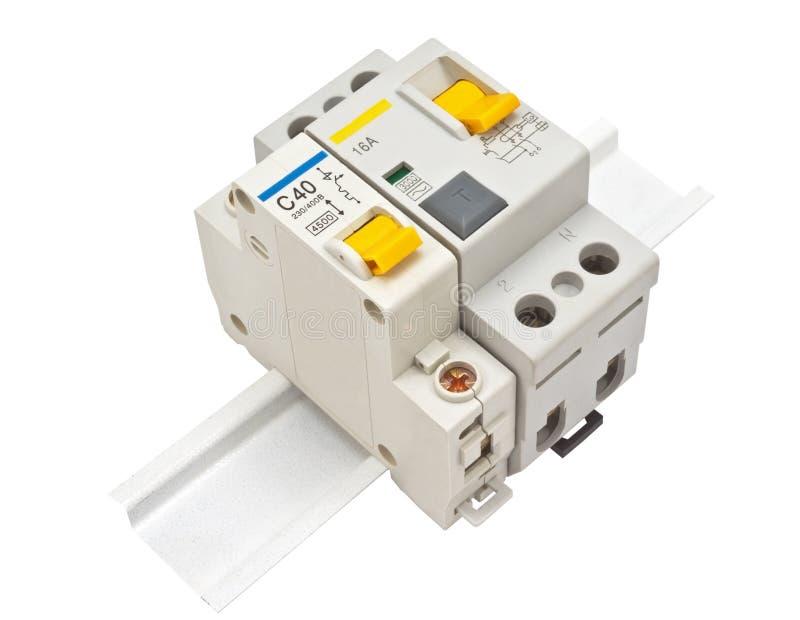Disjoncteur automatique photographie stock