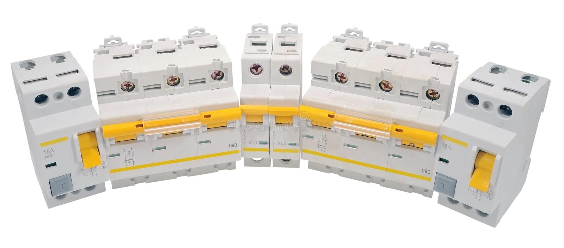 Disjoncteur automatique images stock