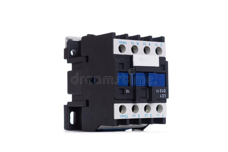 Disjoncteur automatique, d'isolement sur un fond blanc photo libre de droits